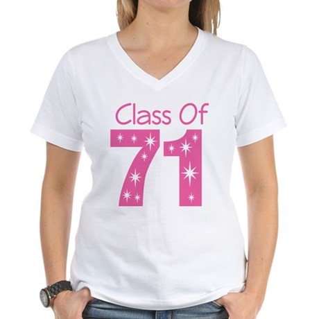 Class of 1971 Women's V-Neck T-Shirt