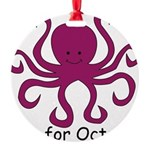 Octopus10.png Round Ornament