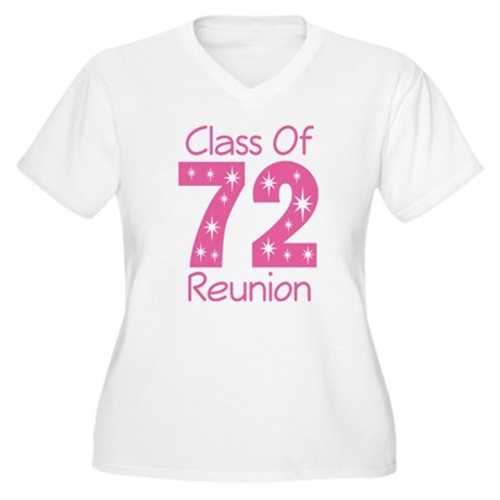 Class of 1972 Reunion Women's Plus Size V-Neck T-S
