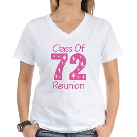 Class of 1972 Reunion Women's V-Neck T-Shirt