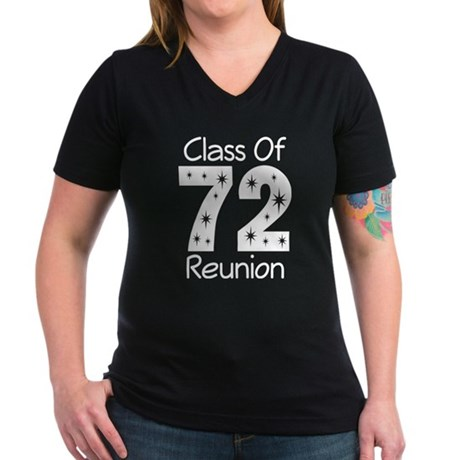 Class of 1972 Reunion Women's V-Neck Dark T-Shirt