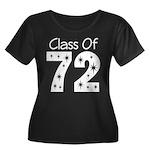 Class of 1972 Women's Plus Size Scoop Neck Dark T-