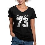 Class of 1973 Women's V-Neck Dark T-Shirt
