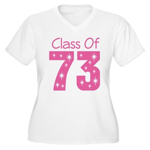 Class of 1973 Women's Plus Size V-Neck T-Shirt