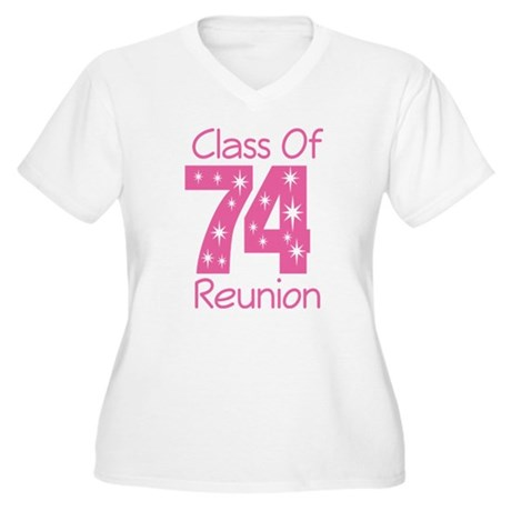 Class of 1974 Reunion Women's Plus Size V-Neck T-S