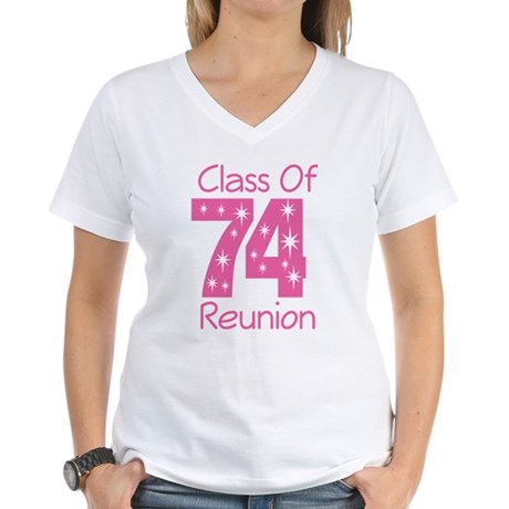 Class of 1974 Reunion Women's V-Neck T-Shirt
