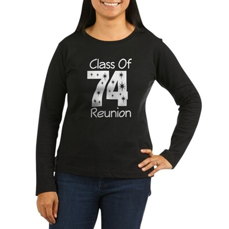 Class of 1974 Reunion Women's Long Sleeve Dark T-S
