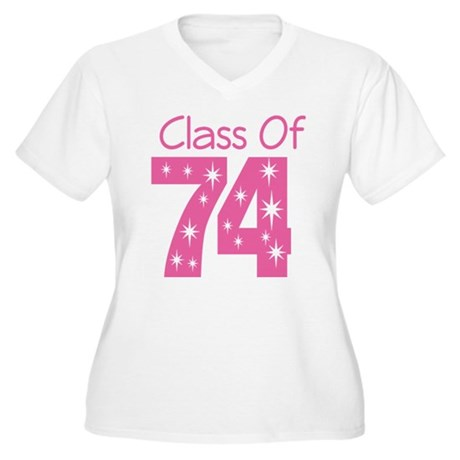 Class of 1974 Women's Plus Size V-Neck T-Shirt