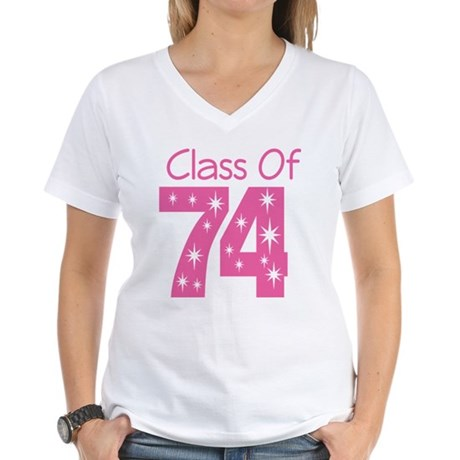 Class of 1974 Women's V-Neck T-Shirt