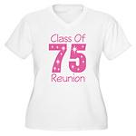 Class of 1975 Reunion Women's Plus Size V-Neck T-S