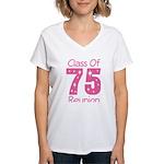 Class of 1975 Reunion Women's V-Neck T-Shirt