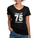 Class of 1975 Reunion Women's V-Neck Dark T-Shirt