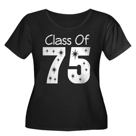 Class of 1975 Women's Plus Size Scoop Neck Dark T-