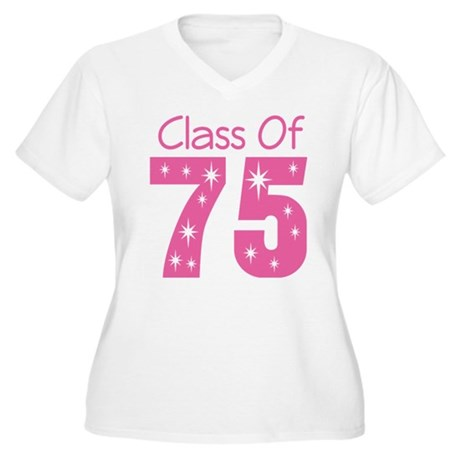 Class of 1975 Women's Plus Size V-Neck T-Shirt