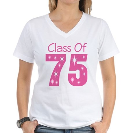 Class of 1975 Women's V-Neck T-Shirt