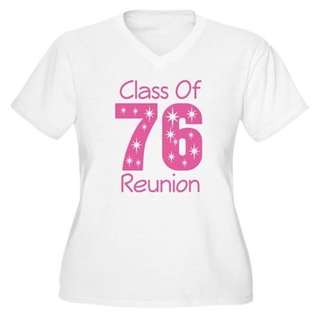 Class of 1976 Reunion Women's Plus Size V-Neck T-S