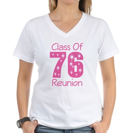 Class of 1976 Reunion Women's V-Neck T-Shirt