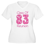 Class of 1983 Reunion Women's Plus Size V-Neck T-S