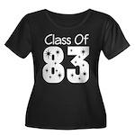 Class of 1983 Women's Plus Size Scoop Neck Dark T-