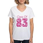Class of 1983 Women's V-Neck T-Shirt
