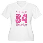 Class of 1984 Reunion Women's Plus Size V-Neck T-S