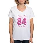 Class of 1984 Reunion Women's V-Neck T-Shirt
