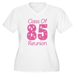 Class of 1985 Reunion Women's Plus Size V-Neck T-S
