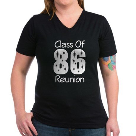 Class of 1986 Reunion Women's V-Neck Dark T-Shirt