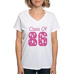 Class of 1986 Reunion Women's V-Neck T-Shirt