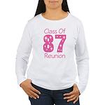 Class of 1987 Reunion Women's Long Sleeve T-Shirt