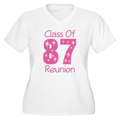 Class of 1987 Reunion Women's Plus Size V-Neck T-S