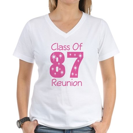 Class of 1987 Reunion Women's V-Neck T-Shirt