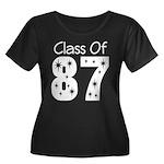 Class of 1987 Women's Plus Size Scoop Neck Dark T-