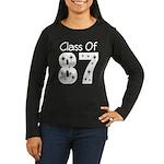 Class of 1987 Women's Long Sleeve Dark T-Shirt