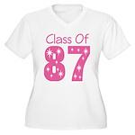 Class of 1987 Women's Plus Size V-Neck T-Shirt