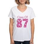 Class of 1987 Women's V-Neck T-Shirt