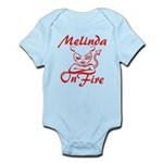 Melinda On Fire Infant Bodysuit