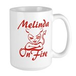 Melinda On Fire Large Mug