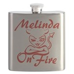 Melinda On Fire Flask