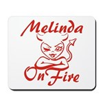 Melinda On Fire Mousepad