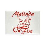 Melinda On Fire Rectangle Magnet