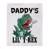 Customizable Lil' T-Rex Throw Blanket