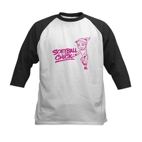 Softball Chick Kids Baseball Jersey