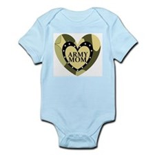 ARMY MOM CAMOUFLAGE HEART Infant Bodysuit