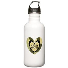 ARMY MOM CAMOUFLAGE HEART Water Bottle