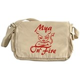 Mya On Fire Messenger Bag