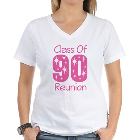 Class of 1990 Reunion Women's V-Neck T-Shirt