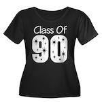 Class of 1990 Women's Plus Size Scoop Neck Dark T-