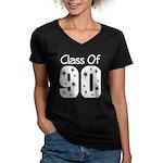 Class of 1990 Women's V-Neck Dark T-Shirt