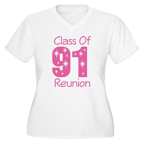 Class of 1991 Reunion Women's Plus Size V-Neck T-S